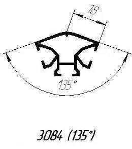 Алюминиевый профиль 3084 для торгового оборудования, фото 2