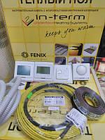 Теплый пол электрический 4,4 - 5,3 м.кв IN-Term (Чехия) тонкий нагревательный кабель двухжильный 870Вт 44м