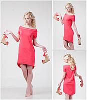 Летнее женское платье - маллет, с открытыми плечами  XS