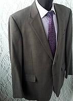 Мужской деловой костюм Marks & Spencer серый ХХЛ