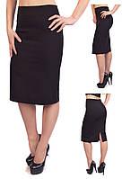 Классическая юбка – карандаш из костюмной ткани № 320 (креп костюм (диагональ))