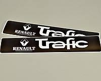 Наклейки на порожки (ЧЁРНО-БЕЛЫЕ) матовые на Renault Trafic III 2001->2014 — Украина - TN108M
