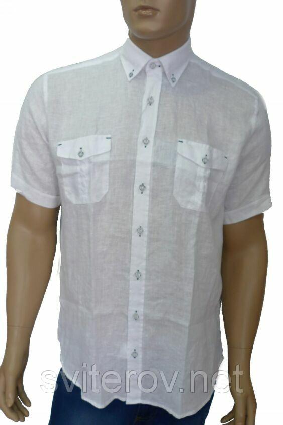 белая льняная сорочка
