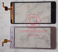 Leagoo M5 тачскрін сенсор золотий оригінальний