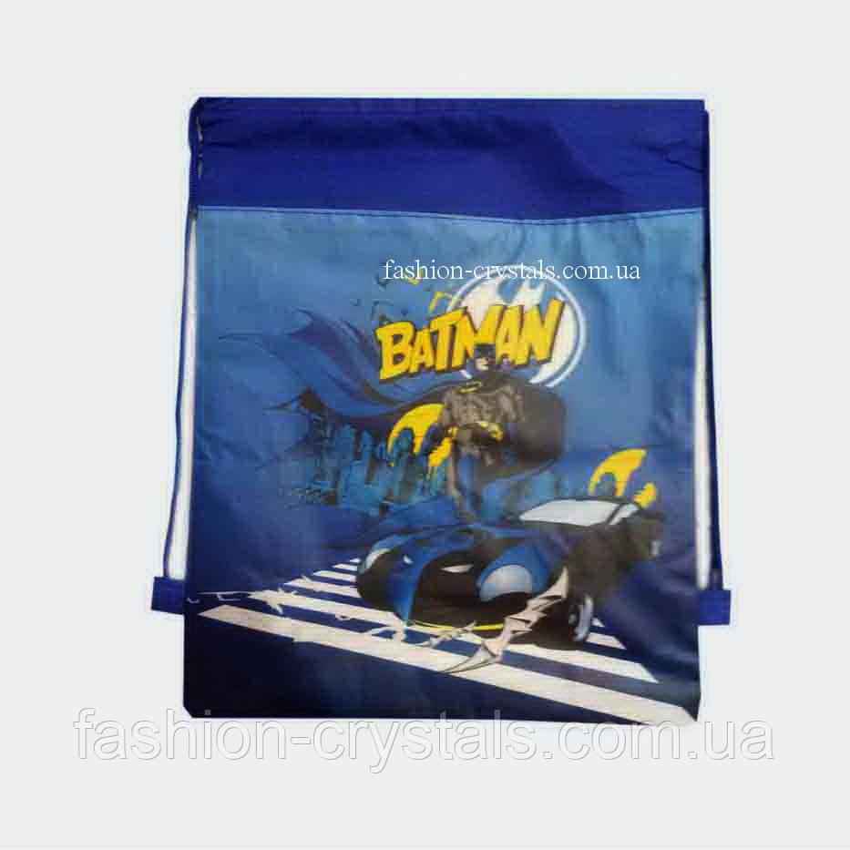 Детская сумка-рюкзак для сменной обуви Batman