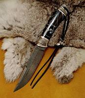 """Авторский нож """"Архангел"""", дамасск, белый металл (наличие уточняйте)"""