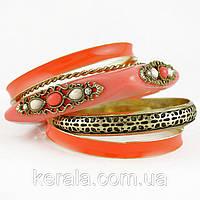Женский цветной набор браслетов на руку