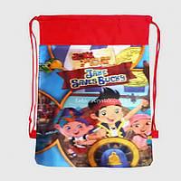 Детская сумка-рюкзак для сменной обуви Пираты