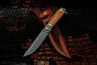 """Авторсуий нож """"Викинг"""", мозаичный дамасск, белый металл (наличие уточняйте)"""