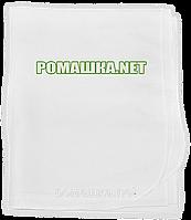 Детская белая ситцевая (ситец) пеленка 110х90 см для пеленания, тонкая, 3426 Белый