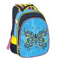 Школьный рюкзак ортопедический для девочки Class Butterfly 9719 каркасный Чехия