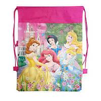 Детская сумка-рюкзак для сменной обуви принцессы Дисней