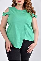 Зеленая блузка 0512-3