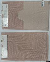 Набор ковриков для ванной 2шт Arya Yazgulu розовый-пудра AR41