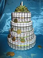 Торт из денег, денежный торт, сувенирный торт