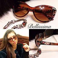 Женские солнцезащитные очки с цветочной оправой w-716004