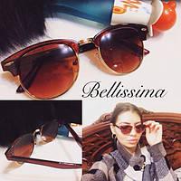 Женские стильные солнцезащитные очки с позолоченной оправой m-716027