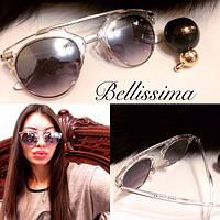 Женские солнцезащитные очки с прозрачной оправе k-716042, фото 1