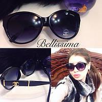 Стильные женские черные солнцезащитные очки n-716048