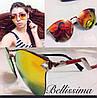 Стильные яркие женские солнцезащитные очки в необычной оправе z-716068
