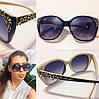 Женские красивые солнцезащитные очки с декорированной оправой q-716075