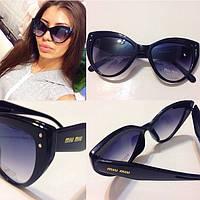 Стильные женские солнцезащитные очки (3 цвета оправы) r-716078, фото 1