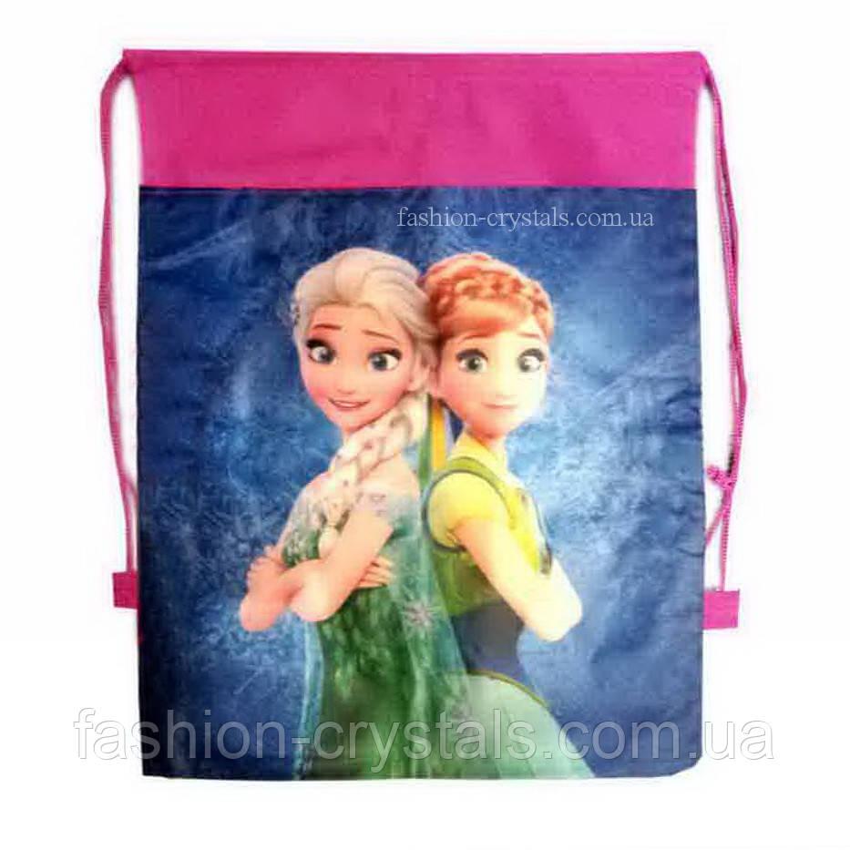 Детская сумка-рюкзак для сменной обуви Frozen