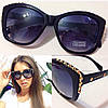 Модные женские солнцезащитные очки с шипами на оправе i-716082