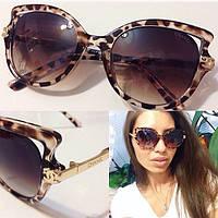 Женские солнцезащитные очки в леопардовой оправе a-716084