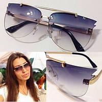 Стильные женские солнцезащитные полупрозрачные очки f-716087