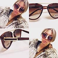 Коричневые женские стильные солнцезащитные очки h-716089