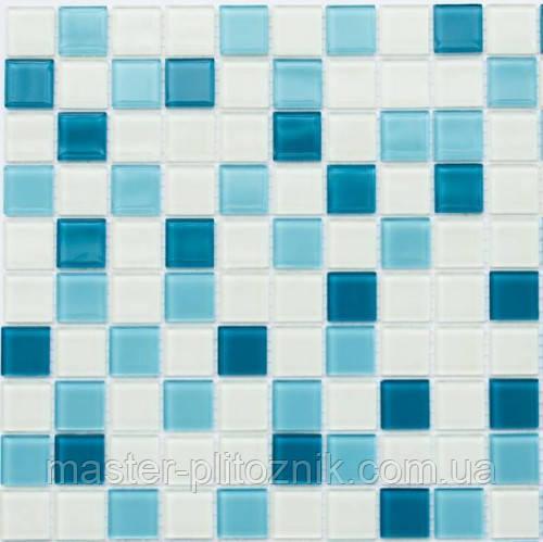 Мозаика Leo Ceramica стеклянная Cerulean white