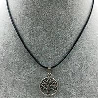 Подвеска кулон на шнурке ювелирная бижутерия античное серебро 3121-б