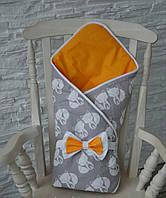 "Двухсторонний конверт-одеяло на выписку Лето ""Лисята"""