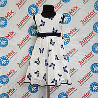 Детское нарядное платье  в бабочки на девочку Bolbina