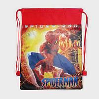 Детская сумка-рюкзак для сменной обуви Spider man