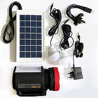 Солнечная система-фонарь Yajia YJ-1902T(SY) (фонарь1+22, 2 лампы,солн бат,Power bank)