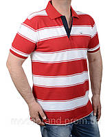 Яркая мужская футболка поло в полоску.Отличное качество!