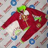 Дитячий спортивний трикотажний костюм на дівчинку трійка Sinsere