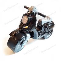 Беговел детский скутер черный