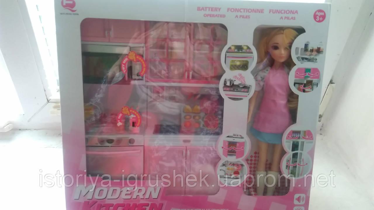Кухня 26216 Р-D с куклой, на батарейке, в коробке