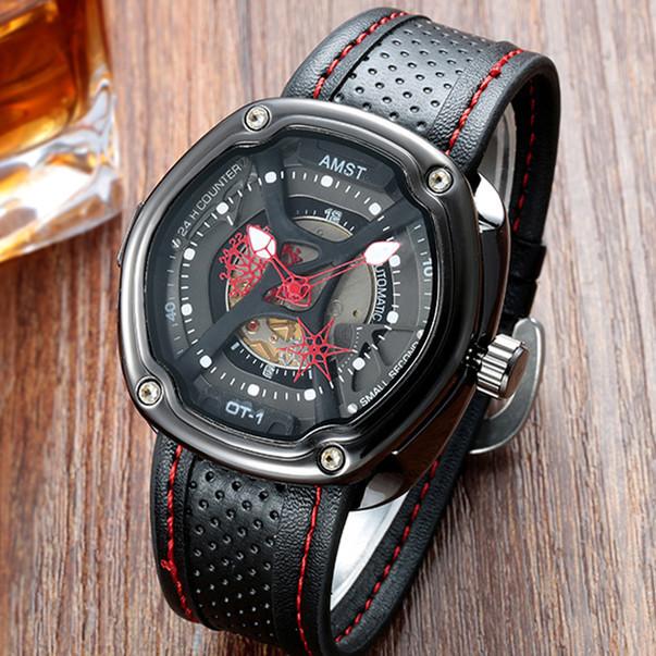 4bbd1e40c15a Кварцевые часы AMST (black-red) - гарантия 12 месяцев