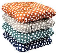 Подушка для стула 40 x 40 x 8 см горошек