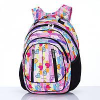 Рюкзак школьный Dolly 504 ортопедический на два отдела с рисунком для девочки разные цвета 30 см *40 см*20 см