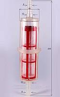 Фильтр топливный Z-309 дизельный прямой 2 сетки Zollex