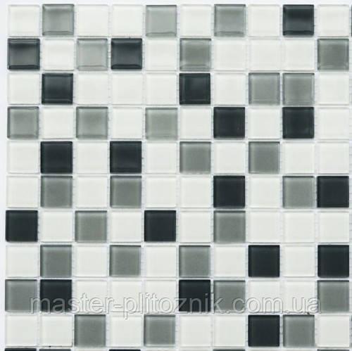 Мозаика Leo Ceramica стеклянная Steel white