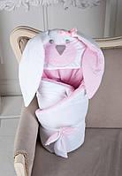 """Конверт-одеяло на выписку Лето """"Розовый зайка"""""""