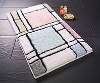 Красивый коврик для ванной клетка 50х60 см Конфетти Haran Mint Yesili CB37