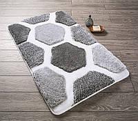 Коврик для ванной 60х100 см Confetti Tenedos Gri CB38