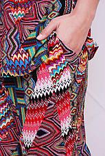 Летний брючный костюм больших размеров Донна красный, фото 2